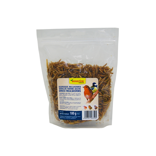DRIED MEALWORM BAG 100 G