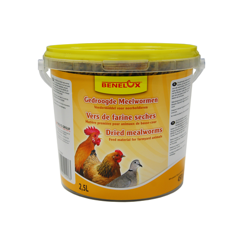 BENELUX DRIED MEALWORM 2.5 L BUCKET