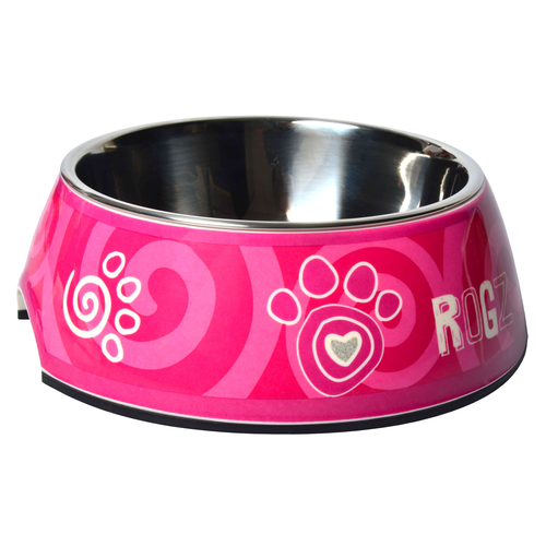 Rogz Bubble Bowlz Small Pink Paw SMALL